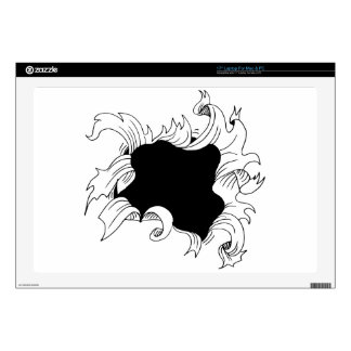 """Bullet hole paper decal for 17"""" laptop"""