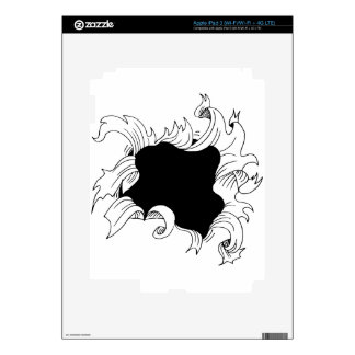 Bullet hole paper iPad 3 decal