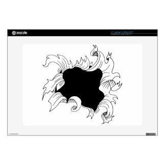 Bullet hole paper laptop skin