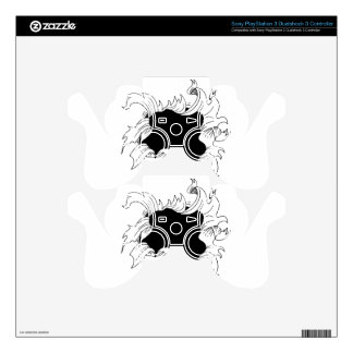 Bullet hole paper PS3 controller decal