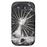 Bullet hole - shattered glass galaxy s3 cover