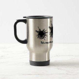 Bullet hole shot mafia boss mug