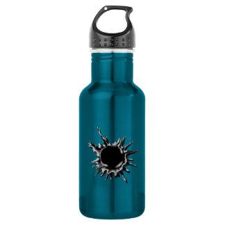 Bullet hole shot stainless steel water bottle