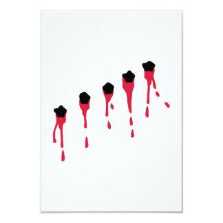 Bullet holes blood 3.5x5 paper invitation card