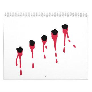 Bullet holes blood calendar