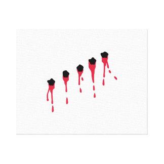 Bullet holes blood gallery wrap canvas