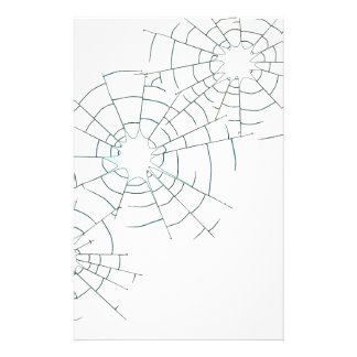 Bullet Holes in Glass Stationery