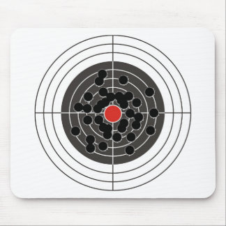 Bullet holes in target - but not the bulls-eye! mouse pad