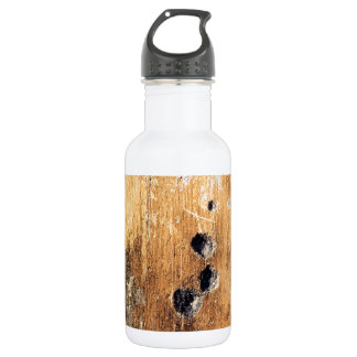 Bullet holes in wall stainless steel water bottle