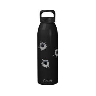 Bullet Holes in Water Bottle Trompe L'oeil Funny