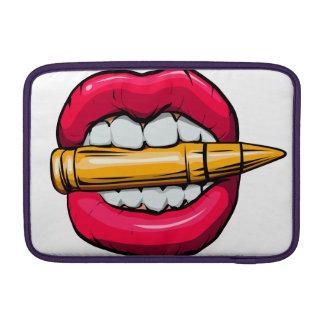bullet in mouth. MacBook air sleeve