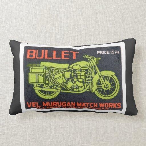 Bullet Match Works Vintage Label Pillow