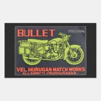 Bullet Match Works Vintage Label Rectangular Stickers
