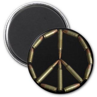 Bullet peace symbol refrigerator magnet