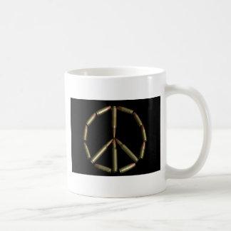 Bullet peace symbol coffee mugs