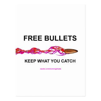 bullet postcard
