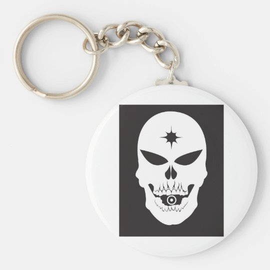 Bullet Skull Keychain