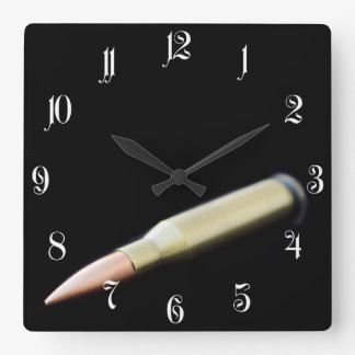 Bullet Square Wall Clock