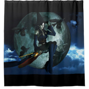 Bullet Witch Shower Curtain