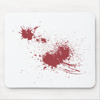 Bullet wound mouse pad