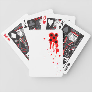 Bullet Wounds Poker Cards