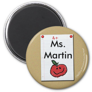 Bulletin Board Note for Elementary Teacher 2 Inch Round Magnet