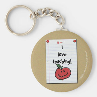 Bulletin Board Note for Elementary Teacher Keychain