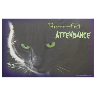 "Halloween Themed Bulletin Board ""Purrr-fect …"" Halloween black cat Fabric"
