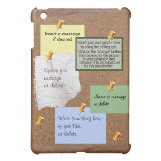 Bulletin Board with Customizable Memos and Pushpin iPad Mini Cover
