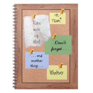 Bulletin Board with Customizable Memos Note Book