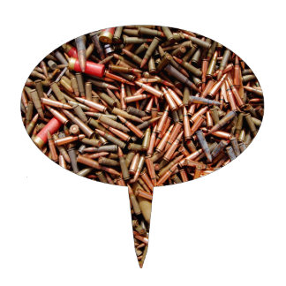 Bullets, ammunition cake topper