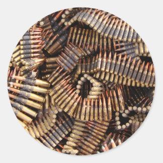 Bullets, ammunition classic round sticker