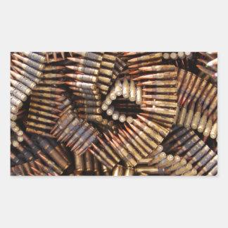 Bullets, ammunition rectangular sticker