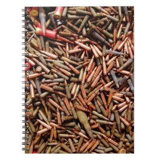 Bullets, ammunition spiral notebook