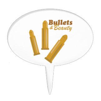 Bullets & Beauty Cake Topper