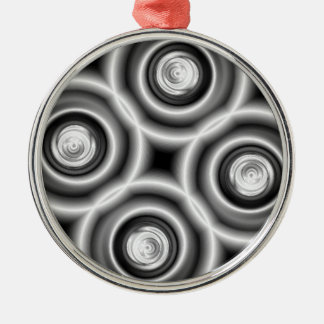 Bullets Round Metal Christmas Ornament