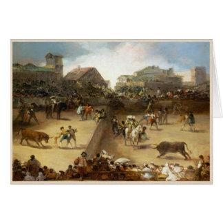 Bullfight in a Divided Ring Francisco José de Goya Card