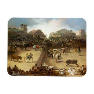 Bullfight in a Divided Ring Francisco José de Goya Flexible Magnets