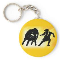 Bullfighter 102 keychain