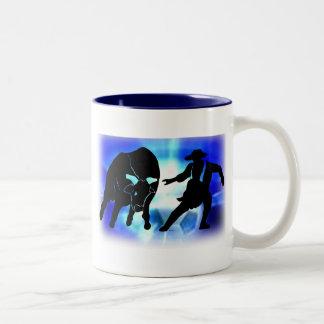 Bullfighter 103 Two-Tone coffee mug
