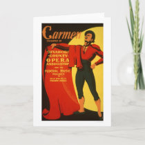 Bullfighter Carmen 1939 WPA Card