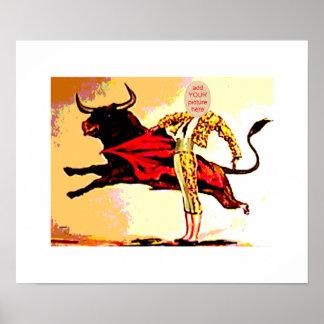 Bullfighter Carnival Cutout Poster