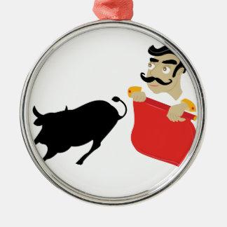 Bullfighter Metal Ornament