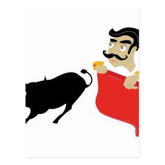 Bullfighter Postcard
