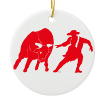 BullfighterRed Ceramic Ornament
