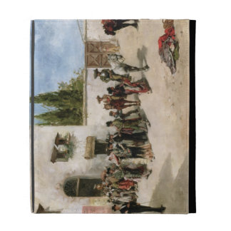 Bullfighters preparing for the Fight (oil on panel iPad Folio Covers