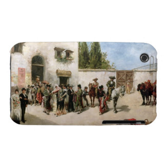 Bullfighters preparing for the Fight (oil on panel iPhone 3 Case
