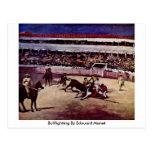 Bullfighting By Edouard Manet Postcard