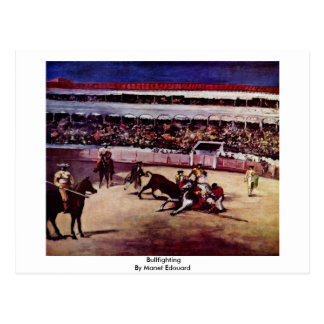 Bullfighting By Manet Edouard Postcard