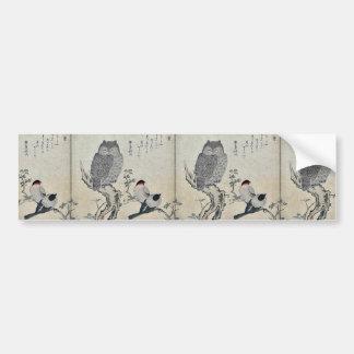 Bullfinch and horned owl by Kitagawa Utamaro Bumper Sticker